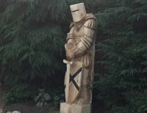 A Large Knight Guardian – over two metres tall